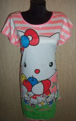 Симпатичная женская ночная рубашки с рисунком