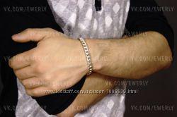 Серебряный браслет Панцирная, Панцирь, Картье