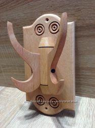 Вешалка деревянная двойная