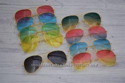 Очки солнцезащитные капли авиаторы цветные