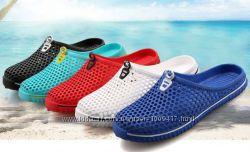 Шлёпки пляжные, тапочки для бассейна, пляжная обувь 5 цветов в сетку
