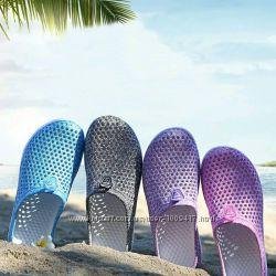 Шлёпки пляжные женские в сетку, тапочки для бассейна, пляжная обувь