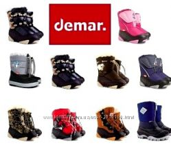 Детские зимние сапоги Demar Демар . Большой выбор. Зимние ботинки