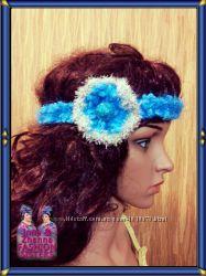 Sky blue - нарядная повязка на голову светло-голубого цвета