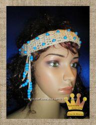 Ethnic Pink-Blue  повязки на голову украшения для волос
