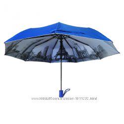 Зонт полуавтомат с серебряным напылением