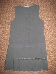 Школьный сарафан, платье M&S серого цвета р. 128