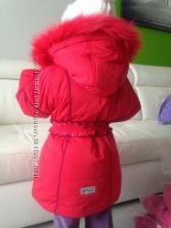 РАСПРОДАЖА Новое зимнее пальто Холлофа  флис, песец остались р.92 большемер