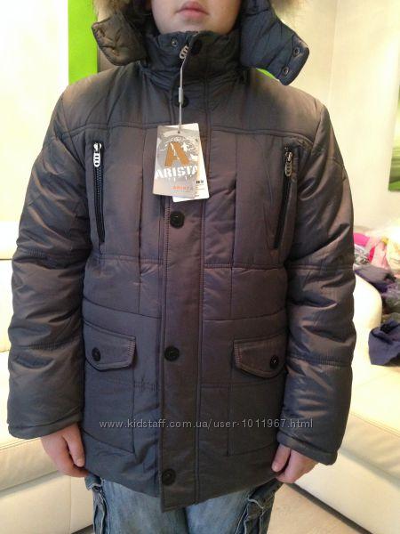 РАСПРОДАЖА Arista Зима куртка Холлофайбер, натур. енот Р-ры 134 - 164