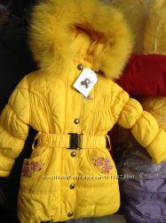Зима Пальто Palhare холлофайбер, флис, песец.  остались 92