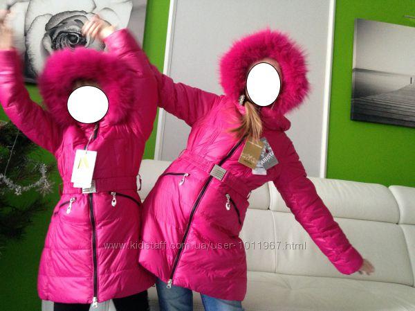 Пальто еврозима Arista песец, размеры 116, 122, 128, 134, 140