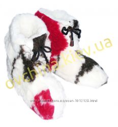 Чуни женские цветные из шерсти мериносовой овчины