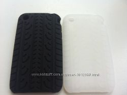 Белая силиконовая чехол-шина на Iphone 3, 3S