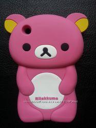 Силиконовый Чехол для Iphone 3, 3S в виде мишки