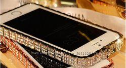 Бампера с камянми для IPhone 5 5s