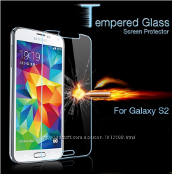 Защитное противоударное Стекло на Samsung S2 i9100
