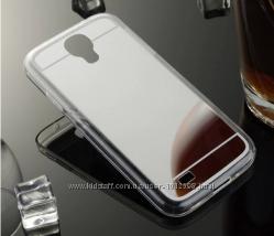 Зеркальный чехол Samsung S4 i-9500 Три Цвета Качество