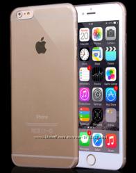 Тонкий силиконовый чехол iphone 6 6S 6 PLUS золотой, прозрачны, серый