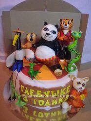 Торты с героями мультфильмов  на заказ Киев