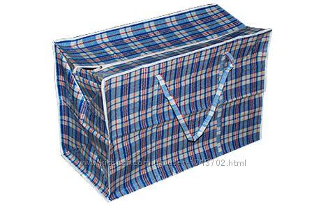 Хозяйственная сумка баул из полипропилена клетка 4 Клетчатая