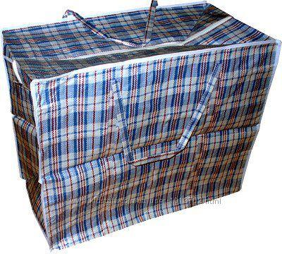 Хозяйственная сумка баул из полипропилена клетка 5 Клетчатая