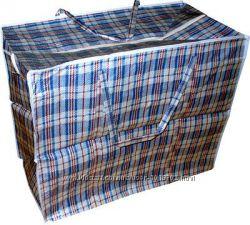 Хозяйственная сумка баул из полипропилена клетка 6 Клетчатая