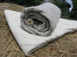 Простынь льняная на резинке, наволочки, пододеяльник, комплект постельный