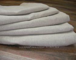 Простынь из льняной ткани. Постельное белье.