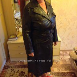 Продам женское кожаное пальто 48р. пр-во Монголия