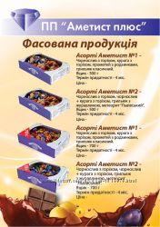 СП конфеты сухофрукты в шоколаде Аметист плюс м. Дубно