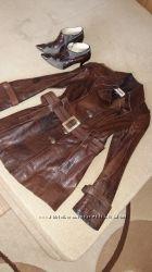 Стильная кожаная курточка состояние новой р. S