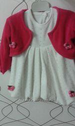 Тепленькое платье с балеро на рост 70-80 см