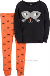 Пижама Carter´s Girl Cat Face, одежда из США