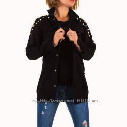 Джинсовая удлиненная куртка с бусинами Noemi Kent Франция, размер M 38