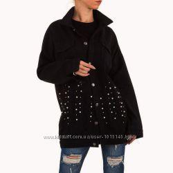 Джинсовая удлиненная куртка с бусинами Noemi Kent Франция, размер S 36