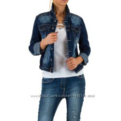 Джинсовая куртка с цветочным принтом Mozzaar Европа, размер М 38