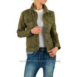 Котоновая куртка с камуфляжным принтом Европа, размер L 40