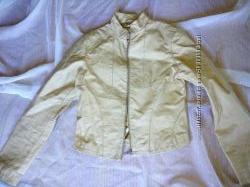 Кожаная курточка, бежевая, S -M