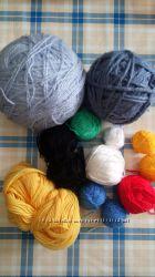 Нитки для вязания игрушек, носков, шарфа