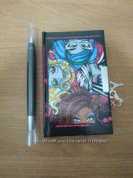 Набор блокнот ручка Monster High