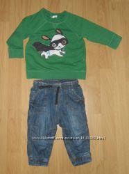 Свитшот и джинсы Н&М, р. 80 на мальчика