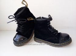 Мега стильные ботинки велюр лак Dr. Martens 24 размер