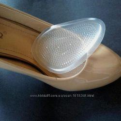 Гелевые вкладыши в обувь силиконовые вставки под переднюю часть стопы Герма