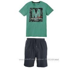 Летний комплект, мужская пижама домашний костюм, Livergy Германия, футболка