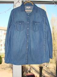 Джинсовая женская рубашка PAPAYA