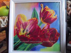 Картины бисером цветы