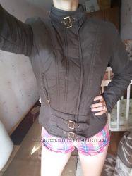 Демисезонная куртка курточка Зара Zara M - L коричневая