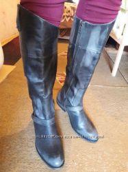 Крутые кожаные жокейские сапоги новые 26, 5 см полностью кожаные