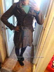 Милое красивое пальто сзади бант шерстяное в идеале