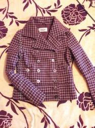 Крутая шерстяная косуха пальто полупальто куртка в идеале S бордовая